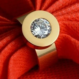 Rose gold interchangeable ring.